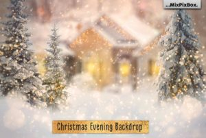 Christmas Evening Digital Backdrop
