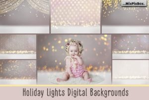Holiday Lights Digital Backgrounds