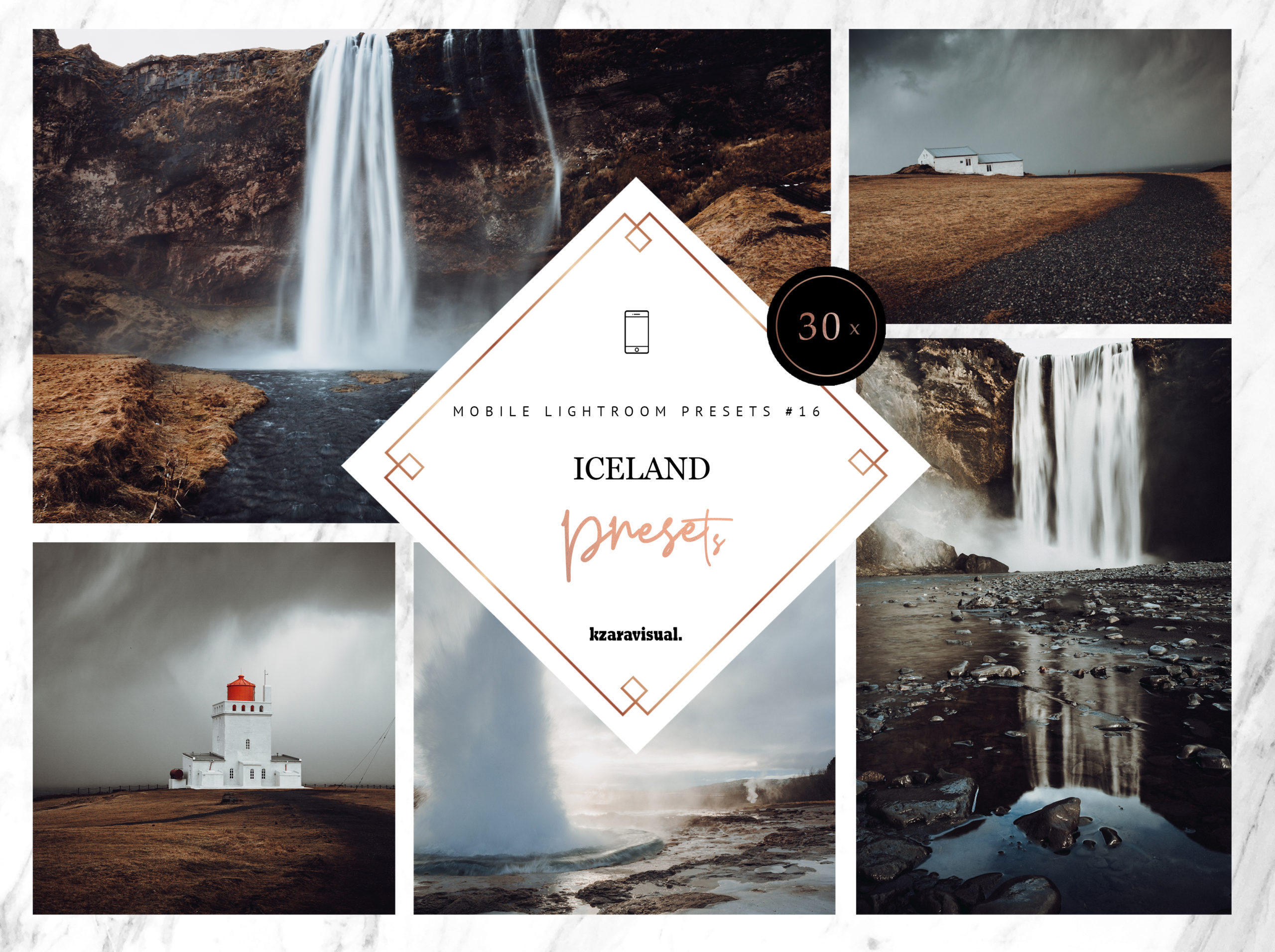 30x Iceland Mobile Lightroom Presets | Perfect for adding moody, dramatic tones