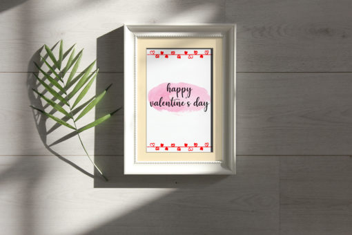 MOCK FRAME 1 - Valentines Day Watercolor Bundle - FilterGrade