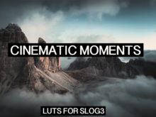 CINEMATIC MOMENTS LUTs for Videos on Slog-3
