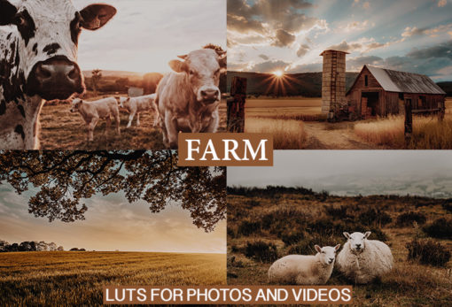 CINEMATIC FARM LUTs Pack for Video(REC.709)