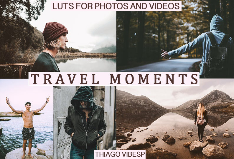 CINEMATIC Travel Moments LUTs Pack for Video (REC.709)