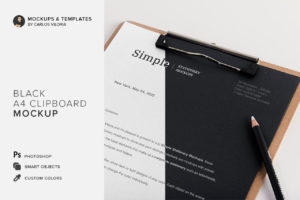 A4 Clipboard Mockup 01