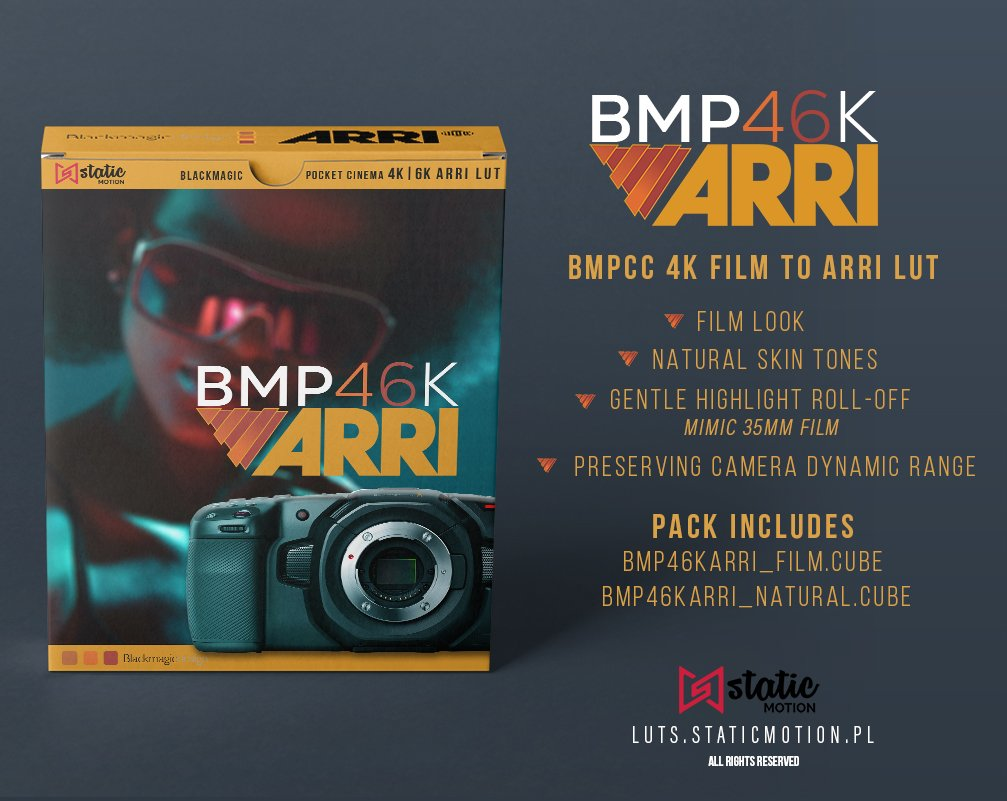 bmpcc 4k film to arri lut