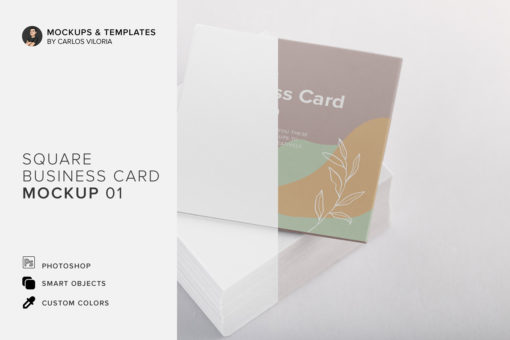 Square Business Cards Mockup 01