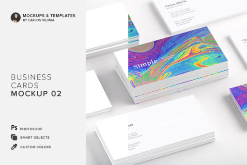 Business Cards Mockup 02
