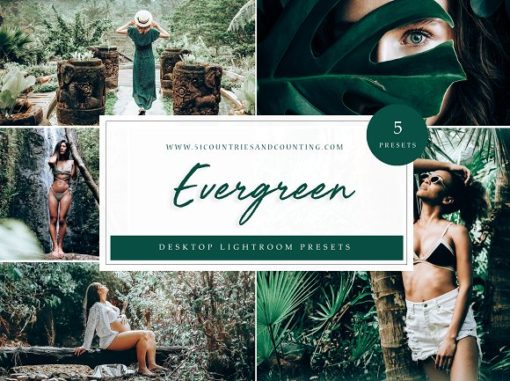 Evergreen Desktop Lightroom Presets // LR Template