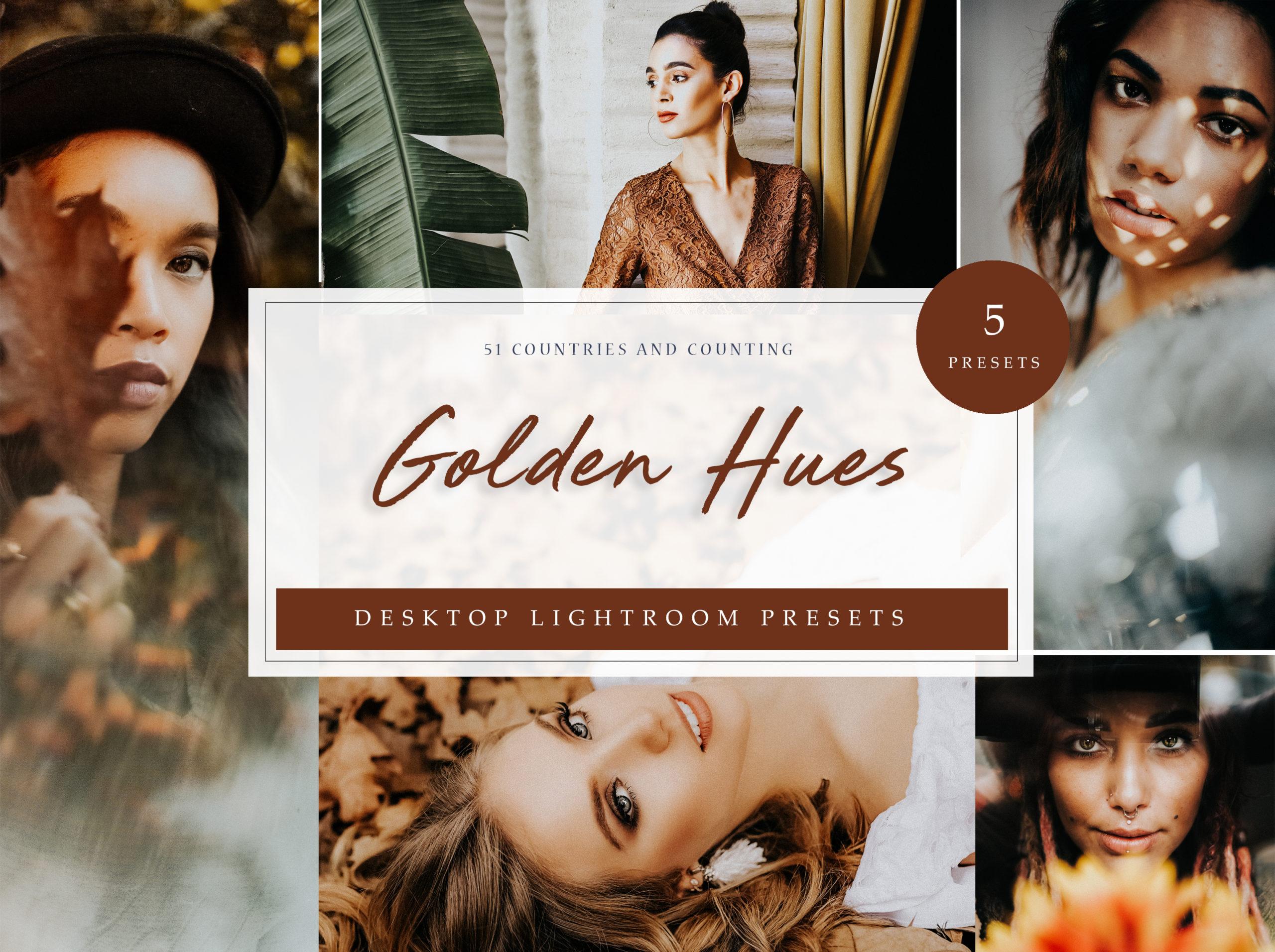 Golden Lightroom Desktop Presets // LR Template