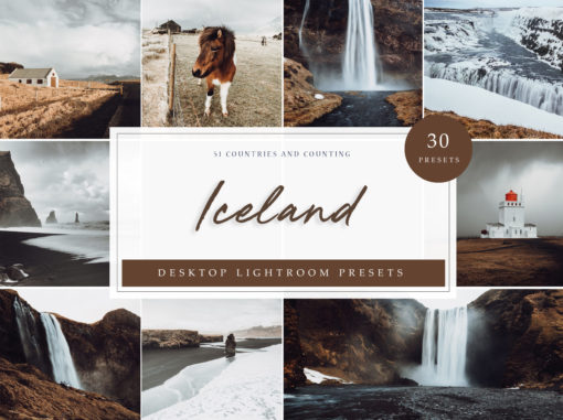 30x Iceland Desktop Lightroom Presets | Perfect for adding moody, dramatic tones