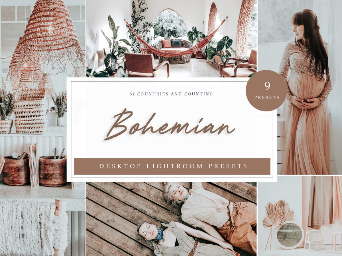 Bohemian Desktop Lightroom Presets // LR Template