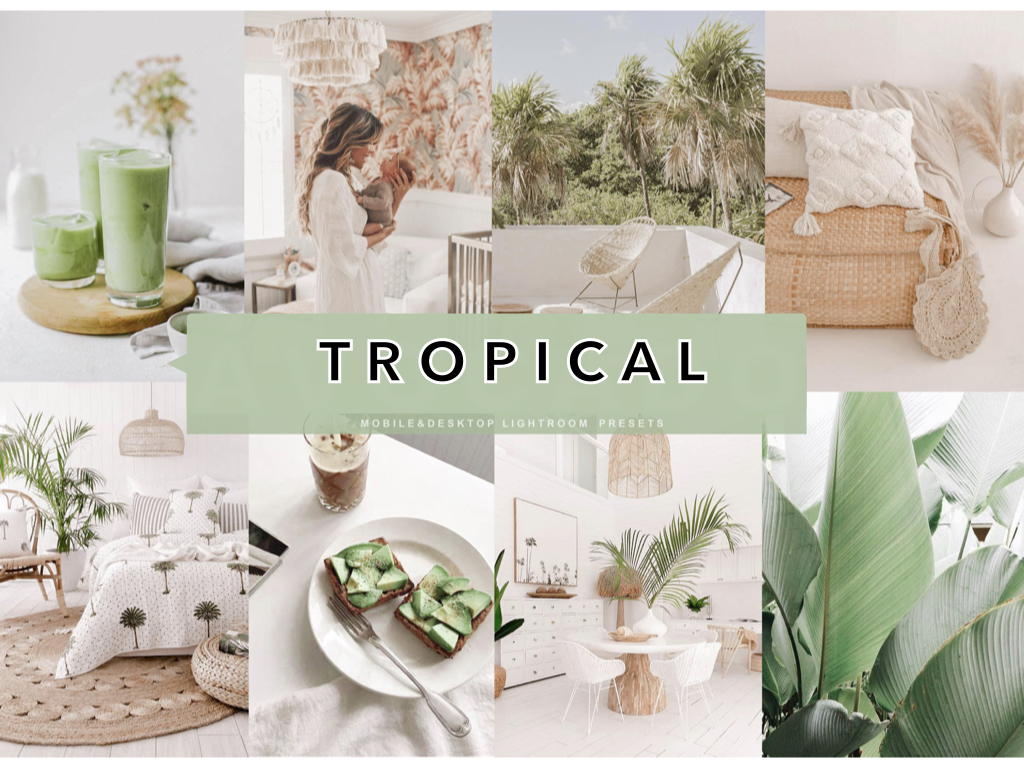 9 Avocado Tropical Lifestyle Mobile Lightroom Presets