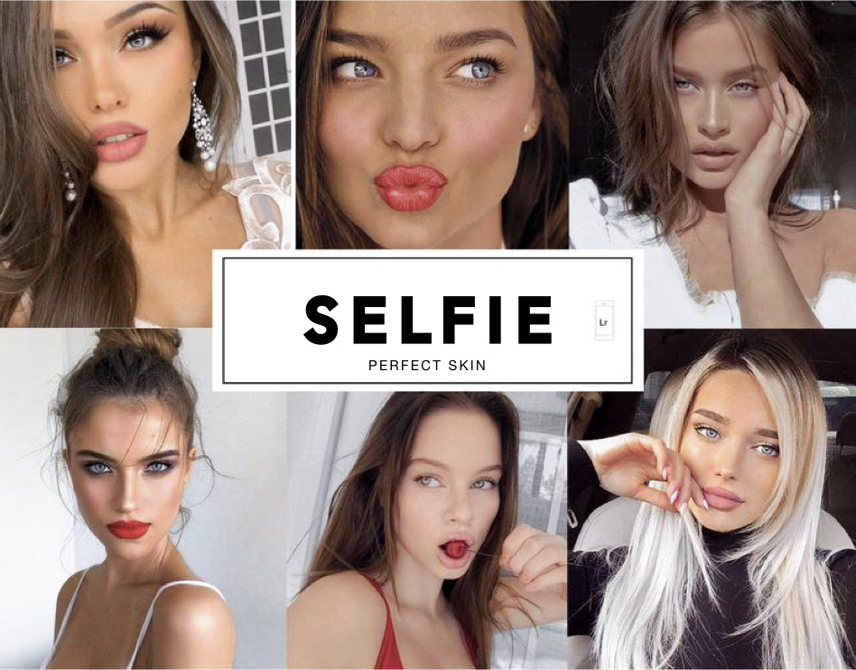 8 Selfies + Skin Tones Mobile Lightroom Presets