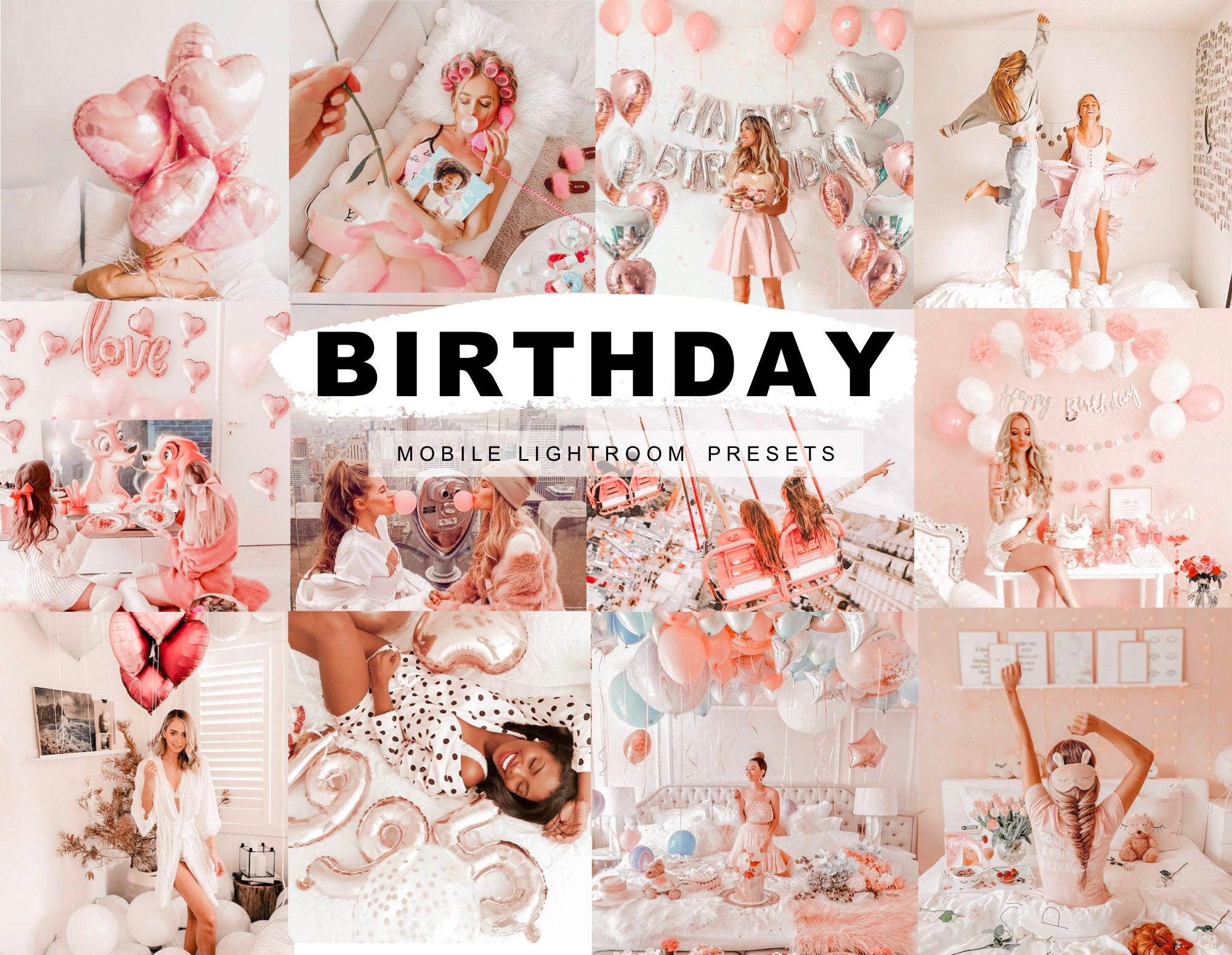 Birthday Pink Celebration Mobile Lightroom Presets