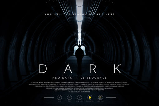 Neo Dark Title Sequence After Effects Template