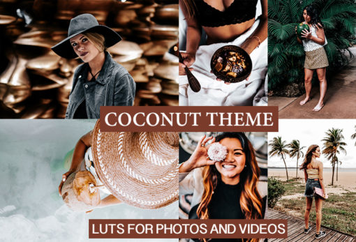 CINEMATIC Coconut Film LUTS for Photos and Videos