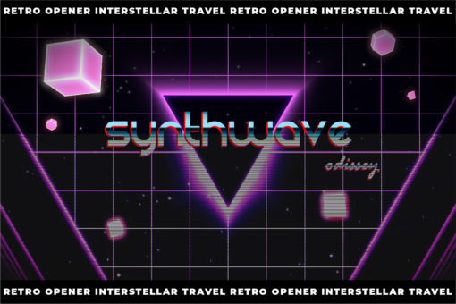 Retro Opener AE Template - Interstellar Travel - VoxelFlow