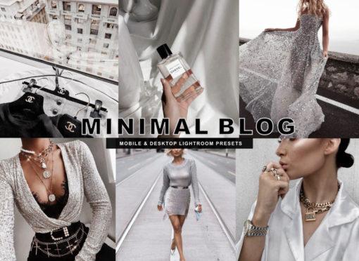 6 Minimal Blog Mobile Lightroom Presets