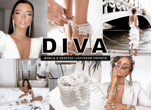 7 DIVA Fashion Luxury Mobile Lightroom Presets