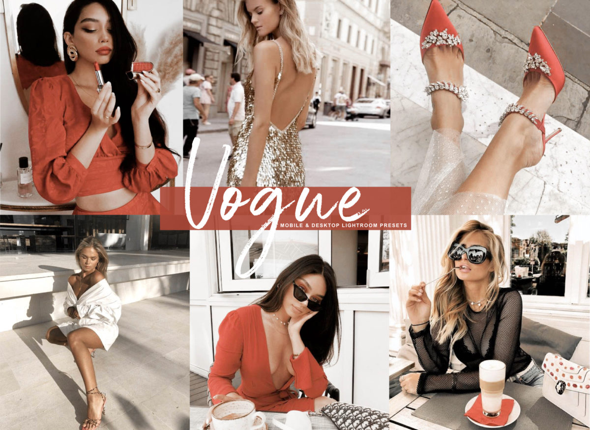 10 Mobile VOGUE Fashion Style Luxury Lightroom Presets