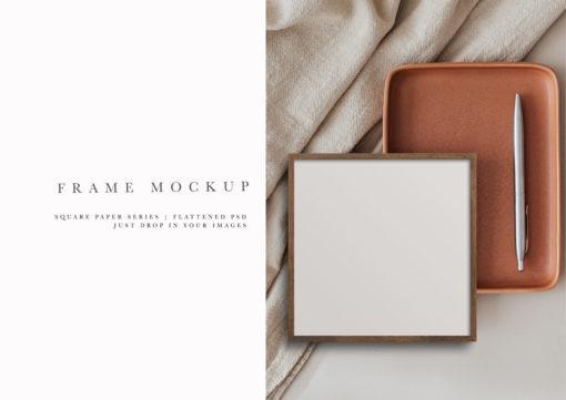 Frame Mockup #301 | Earth Series Square Frame Mockup