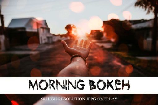 50 Morning Bokeh Light Overlays
