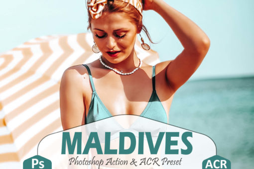 10 Maldives Photoshop Actions and LUTs