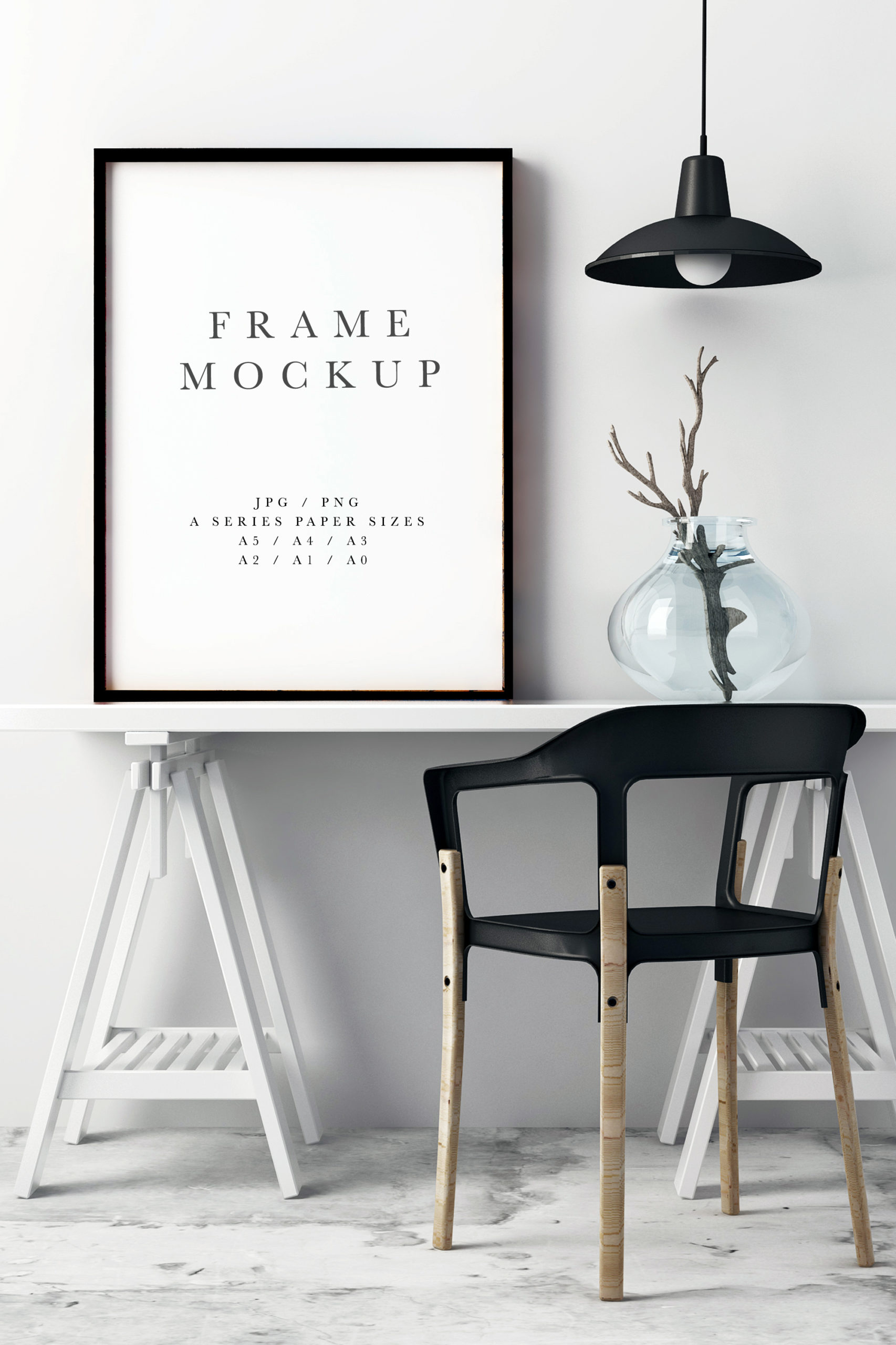 square format Styled frame mockup instagram mockup print display calligraphy photo based mockup elephants black frame portrait