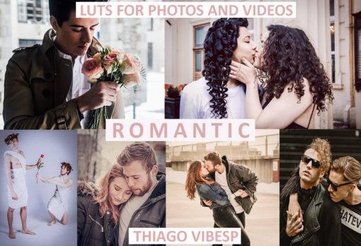 CINEMATIC ROMANTIC Film LUTs + Desktop & Mobile Lightroom Presets