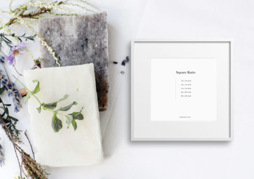 Styled White Square Photo Frame Mockup #345