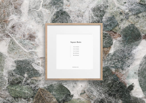 Birch Wood Square Photo Frame Mockup #344