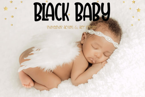 10 Black Baby Photoshop Actions and LUTs