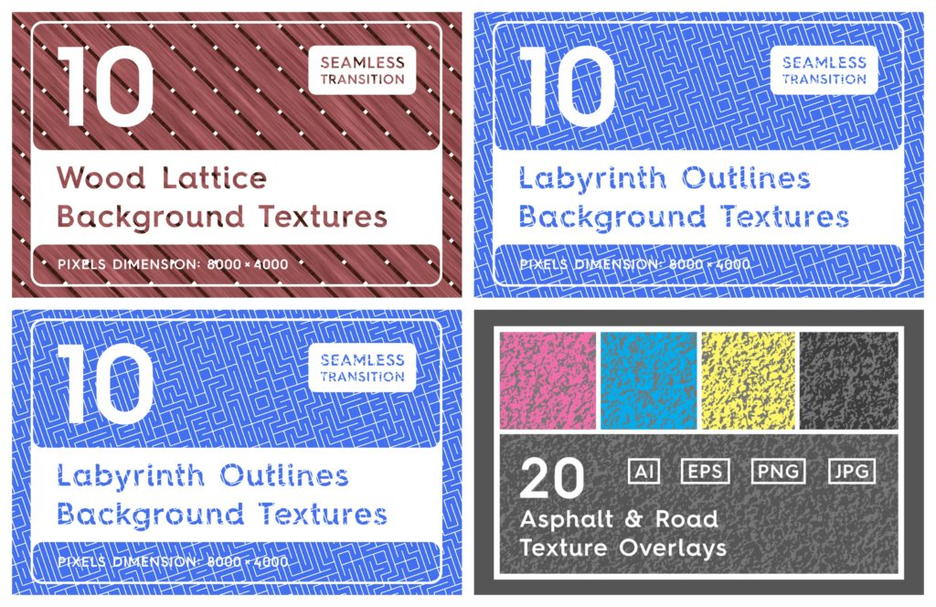 15 Cool Bundles of Textures for Designers to Download