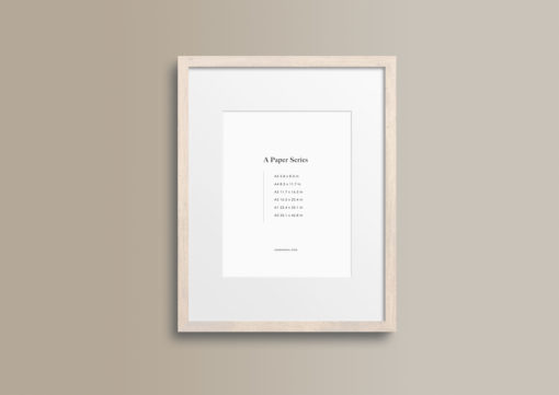Styled Thin Birch Wood Portrait Photo Frame Mockup #232