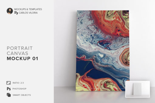 Portrait Canvas Ratio 2x3 Mockup 01