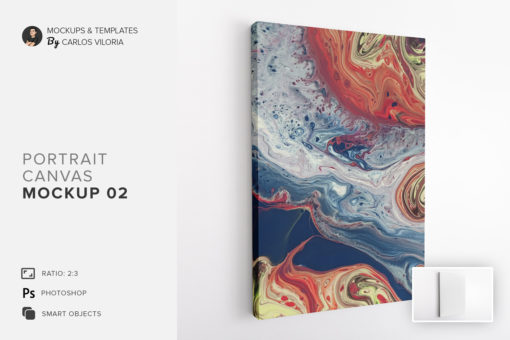 Portrait Canvas Ratio 2x3 Mockup 02