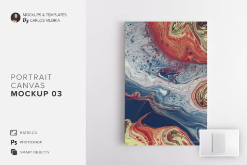 Portrait Canvas Ratio 2x3 Mockup 03