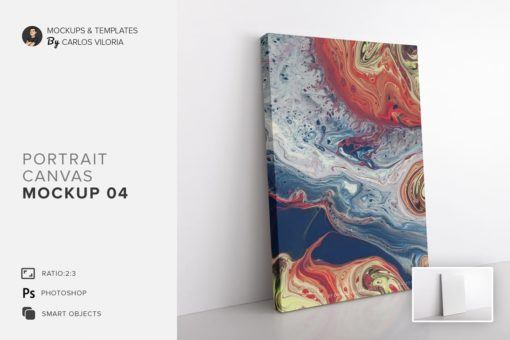 Portrait Canvas Ratio 2x3 Mockup 04