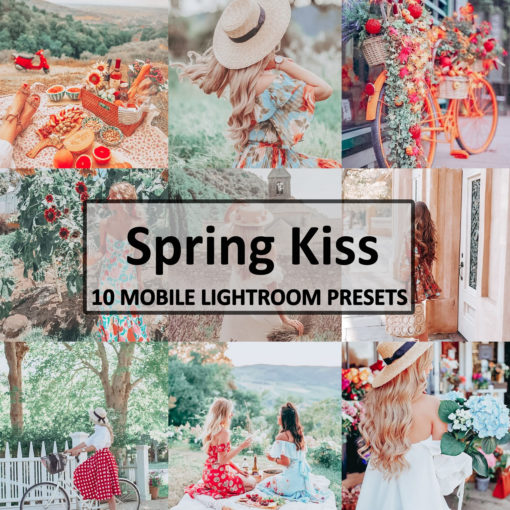 10 Spring Kiss Mobile Lightroom Presets