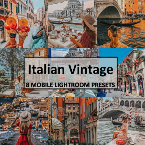 8 Italian Vintage Mobile Lightroom Presets