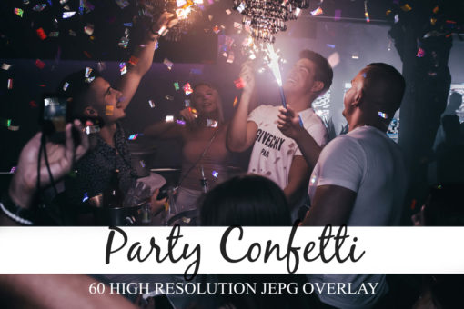 60 Party Confetti Photo Overlays