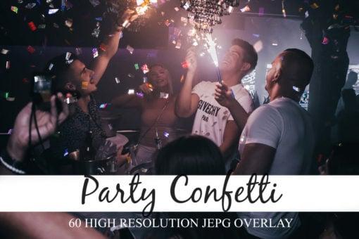 60 Party Confetti Photo Overlays