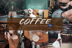 6 Coffee Photoshop Actions, LUTs and ACR Presets