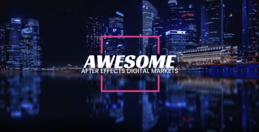 fresh typography template for after effects