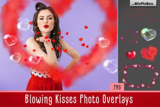 Blowing Kisses Photo Overlays