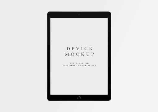 Device Mockup #477 | iPad PSD + Smart Object