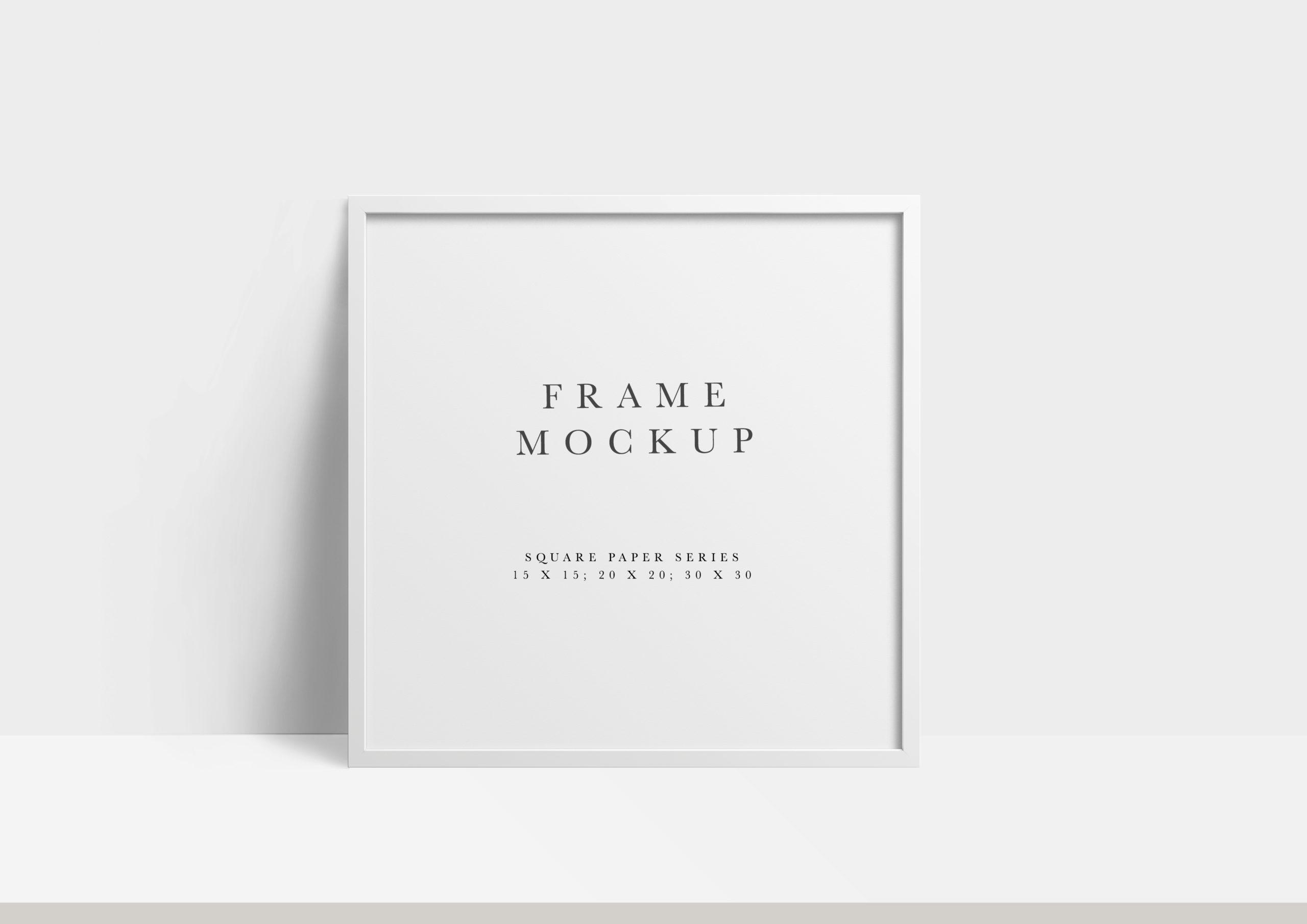 square white photo frame mockup
