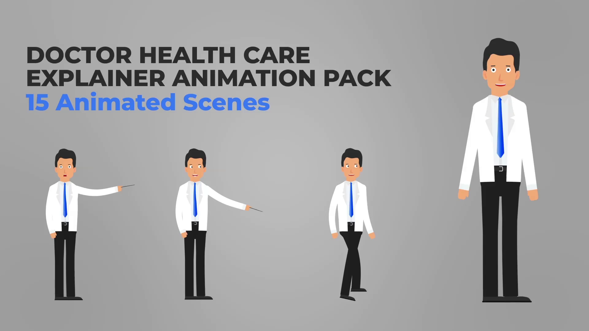 Doctor - Scientist Health Care Explainer Packs AE Template