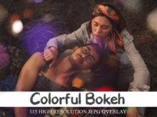115 Colorful Bokeh Overlays & Glows