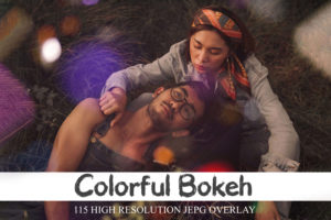 115 Colorful Bokeh Overlays & Glows